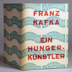 Franz Kafka, Ein Hungerkünstler, Berlin: Die Schmiede, 1924. Jacket by Georg Salter.