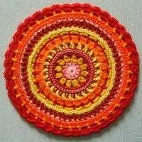 Crochet Mandala Wheel made by Kristina, Sweden, UK for yarndale.co.uk
