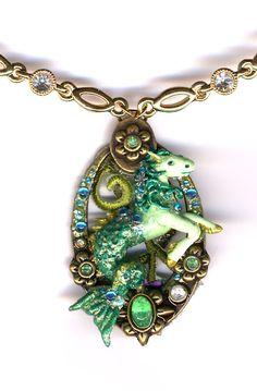 Emerald Merhorse Necklace by Sheila A. Nielson