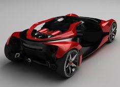 ferrari f750, concept car, futuristic cars, future vehicles, marc devauze, ferrari