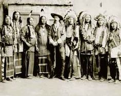 Buffalo Bill poses with Native American Chiefs, 1890