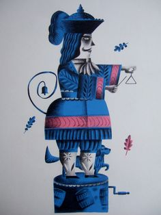 Clive Hicks-Jenkins artwork. 'British Percussion Six-Barrel Pepperpot Revolver', gouache and pencil on board, 2014