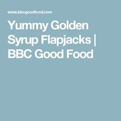 Bake these four-ingredient flapjacks – they're easy to make and ready in half-an-hour. Add chocolate drops, desiccated coconut or sultanas, if you like Tray Bake Recipes, Easy Baking Recipes, Bbc Good Food Recipes, Sweet Recipes, Cooking Recipes, Cake Recipes, Dessert Recipes, Yummy Food, Golden Syrup Flapjacks