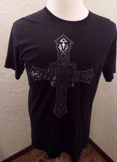 AFFLICTION Live Fast Jealous Souls Mens Black Distressed T Shirt Size LARGE NWOT #Affliction #DistressedGraphicTee