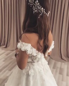 Magbridal Glamorous Organza Satin & Tulle Off-the-shoulder Neckline Ball Gown Wedding Dresses With Beaded Lace Appliques #Appliques #ball #Beaded #dresses #Glamorous #gown #Lace