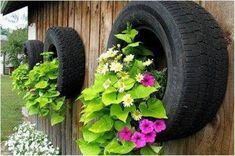 garden decorations from tires 4