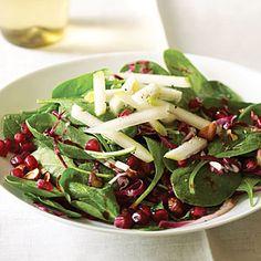 Hazelnuts Pomegranates, Spinach Salad, Pomegranate Myrecipes, Salad ...