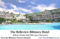 The Historic, Belleview Biltmore Hotel in Belleair, Florida is in danger.  Please take a few minutes to look at this site and check the facebook page for the Belleview Biltmore.  We must try to save this national treasure.