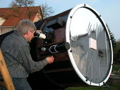 Dr. Erhard Hänssgen's 42 inch (107 cm) Dobsonian Telescope #Astronomy #Telescopes #Dobsonian