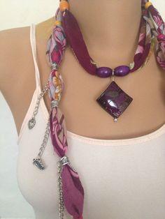 Burgundy Jewelry Scarf  Bohemian Jewelry Scarf   Large by MaxiJoy, $12.00