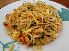 Recette - Sauté mines au poulet | Notée 4.2/5 Spaghetti, Brunch, Menu, Chicken, Dinner, Ethnic Recipes, Food, Sauce, Noodle Recipes