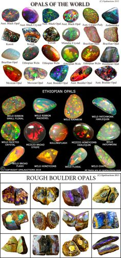 Opal is a hydrated silica or amorphous form of silica chemically similar to quartz, but which displays dazzling colors.  #gem #gemstone #nature  #myt