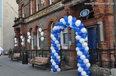 Bank of Ireland Promo Balloon Arch, Balloons, Balloon Release, Arches, Ireland, Baby Shower, Gallery, Design, Bows