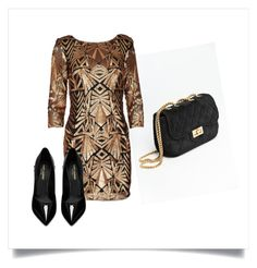"""""""Holiday Party Wear"""" by hudsonj959 on Polyvore featuring Yves Saint Laurent, NewYears, partydress and artexpression"""