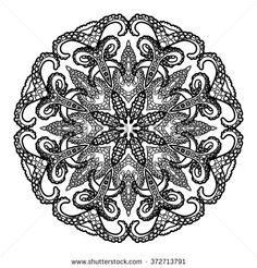 Graphic tentacles ornament drawn in line art style. Vector graphic design element. Coloring page design for adults and kids