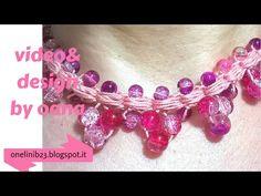 crochet beaded necklace - YouTube