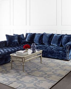 Divine Right-Chaise Sectional Sofa by Haute House at Neiman Marcus.