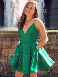 #TBDress - #TBDress A-Line Spaghetti Straps Short Homecoming Dress - AdoreWe.com
