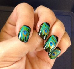 Ngel nails paznokcie peacock pfau nail art nail design an impressive press on manicure easy nail arteasy prinsesfo Image collections