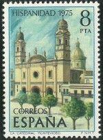 La Catedral de Montevideo (4) Estampilla de España