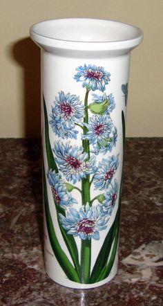 """PORTMEIRION UK  Botanic Garden  6"""" SERIF VASE East Hyacinthus Flower #PORTMEIRION"""