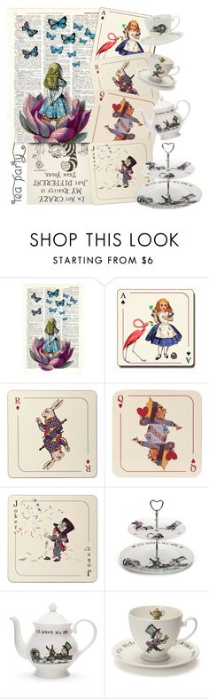 """""""Alice's Adventures in Wonderland by Lewis Carroll"""" by la-vie-en-couleur ❤ liked on Polyvore featuring interior, interiors, interior design, home, home decor, interior decorating, Avenida Home and Mrs Moore's Vintage Store"""