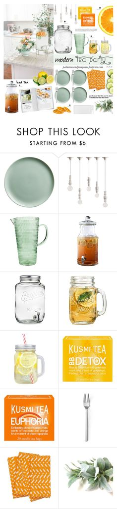 """""""Afternoon Tea Party"""" by palmtreesandpompoms on Polyvore featuring interior, interiors, interior design, home, home decor, interior decorating, CB2, Seletti, Kusmi Tea and Bela"""
