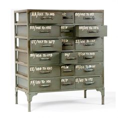 French Military 18 Drawer Chest