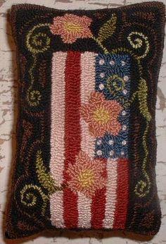 Aiguille primitif Punch oreiller Americana par thetalkingcrow, $35.00