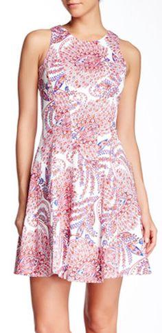 sweet pink paisley dress