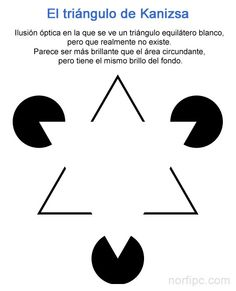 Ilusión óptica, el famoso Triángulo de Kanizsa