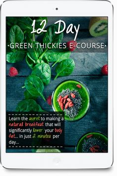 FREE 12 Day Green Smoothie E-Course - Green Thickies: Filling Green Smoothie Recipes Green Detox Smoothie, Smoothie Blender, Smoothie Cleanse, Green Smoothie Recipes, Smoothie Drinks, Green Smoothies, Juice Cleanse, Healthy Detox, Healthy Smoothies