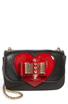 Christian Louboutin 'Sweet Charity - Valentine' Studded Calfskin Shoulder Bag