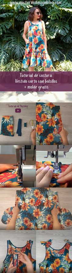 Strapless Dress, Summer Dresses, Sewing, Diy, Outfits, Clothes, Blog, Free, Fashion