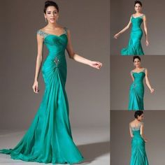 Sexy elegant Mermaid Chiffon Bridal Prom Dress Formal Wedding Evening party Gown in Clothing, Shoes & Accessories   eBay