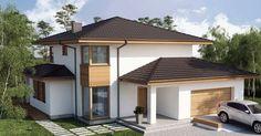 Two story house plans - Houz Buzz Two Story House Plans, Garage House Plans, Modern House Plans, African House, Dream Home Design, Farmhouse Plans, Design Case, Exterior Design, Modern Architecture