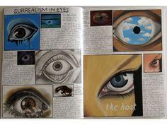 Art sketchbook gcse sketchbooks - surrealism and eyes A Level Art Sketchbook, Sketchbook Layout, Sketchbook Pages, Sketchbook Inspiration, Art Journal Pages, Sketchbook Ideas, Journal Ideas, Roy Lichtenstein, Kunst Portfolio