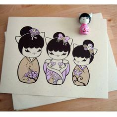 "Kitty Kokeshi ""Sweetest Blossom"" Print"