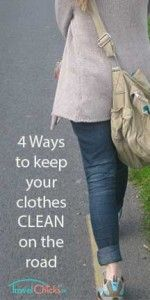 """How to keep your travel clothes clean on the road - 4 items to use to help keep the """"smelly"""" down."""