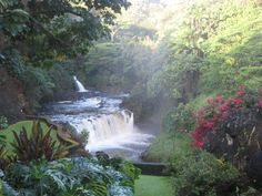 Secluded falls at private home on the Big Island-truly a slice of paradise!