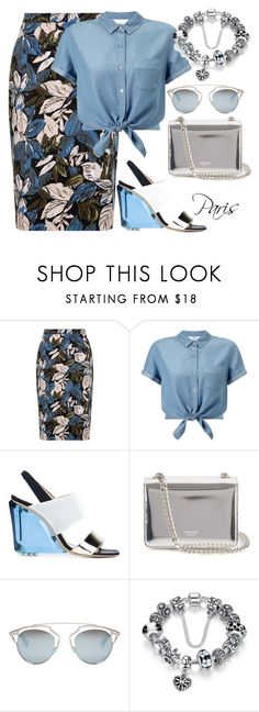 """""""Образ """"Прогулка по Парижу"""""""" by lata404402 ❤ liked on Polyvore featuring Miss Selfridge, Monique Lhuillier, Rochas and Christian Dior"""