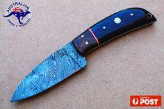 Damascus Blade Handmade 7.8 Skinner/Hunting Knife  Bull