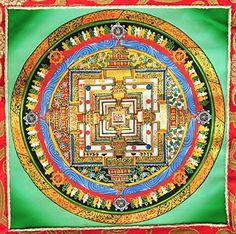 Tibetan Buddhist Art Masterpiece Level Mandala Thangka Painting Scroll