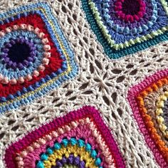 babylovebrand:  Tutorial on this simple lace join for my Textured Circles blanket is up on my website! Configure for any square size/design. :) babylovebrand.net #etsy #crochetpattern #crochet