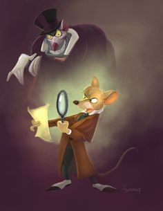 Basil and Rattican  The Great Mouse Detective.