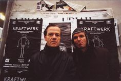 """Ralf Hütter (born 20 August 1946) and Florian Schneider (born 7 April 1947), founding members of electronic music band Kraftwerk. I like their songs """"The Model"""" and """"Neon Lights"""""""