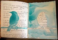 Opposites bird silhouette page with quotes   by Kim Rae Nugent, RAEvN's Nest