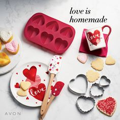 get ready to make all them homemade valentine goodies avon got just what you need to whip up something good. Avon Products, Valentines Baking, Valentine Day Gifts, Betty Boop, How To Use Dishwasher, Love Is In The Air, Cute Cookies, Something Sweet, Sweet Treats