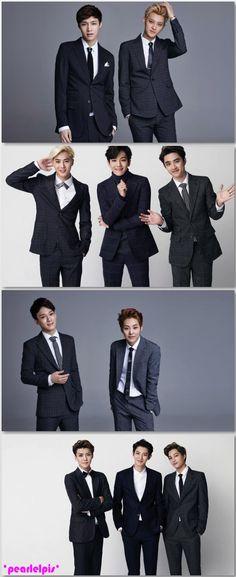 Exo Nov. 2014 Calendar : Lay+Tao, Suho+ Baekhyun+D.O, Chen + Xiumin, Sehun+ Chanyeol+Kai