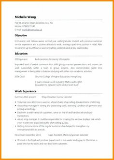 How To Write A Cv Cvs By Exle Of A Cv Resume Pinterest